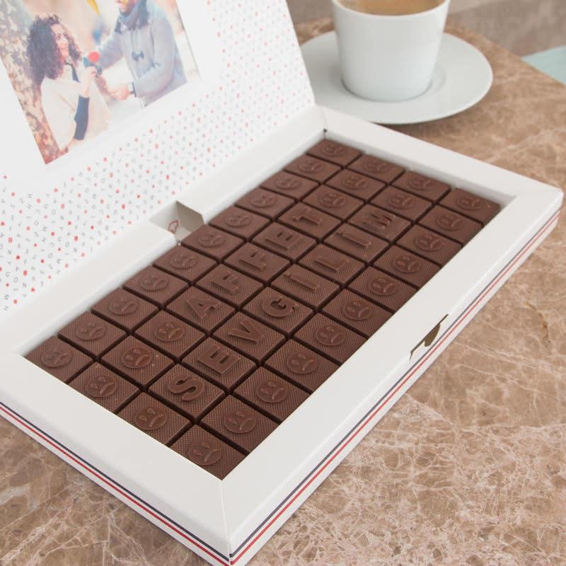 Affet Sevgilim Mesajlı Harf Çikolata