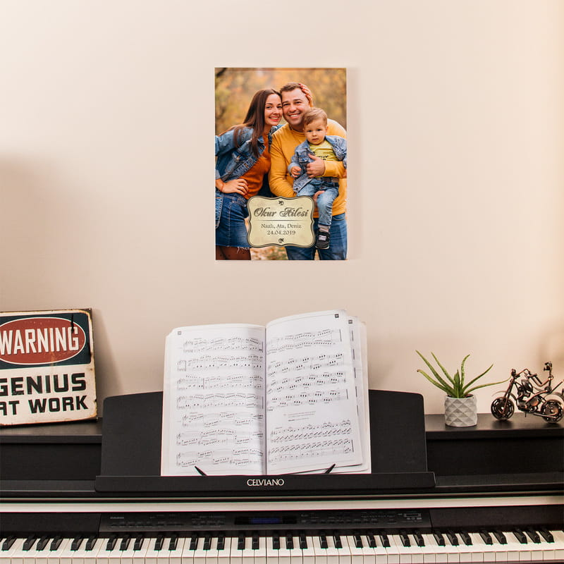 Aile Resminizle Kanvas Baskılı Tablo 30x40