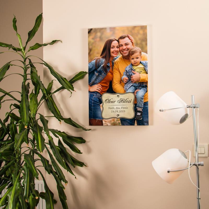 Aile Resminizle Kanvas Baskılı Tablo 40x60