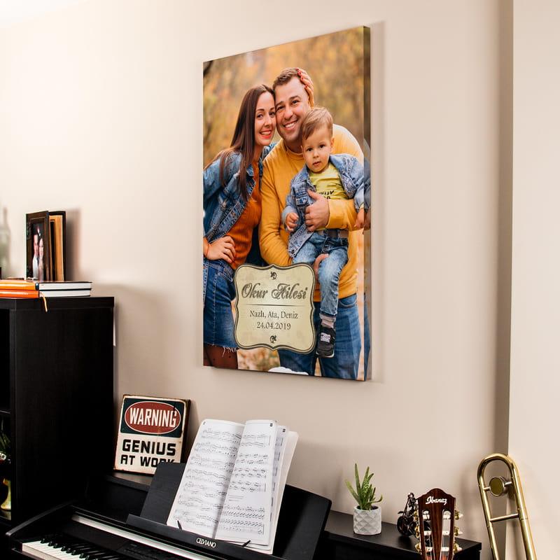 Aile Resminizle Kanvas Baskılı Tablo 65x95