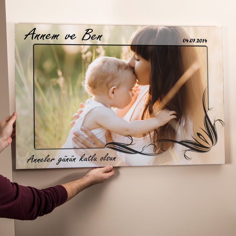 Annem ve Ben Canvas Tablo 65x95