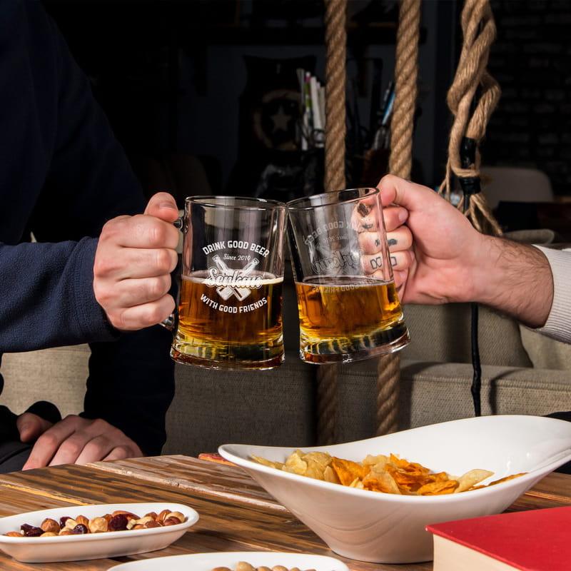 Arkadaşa Doğum Günü Hediyesi Bira Bardağı