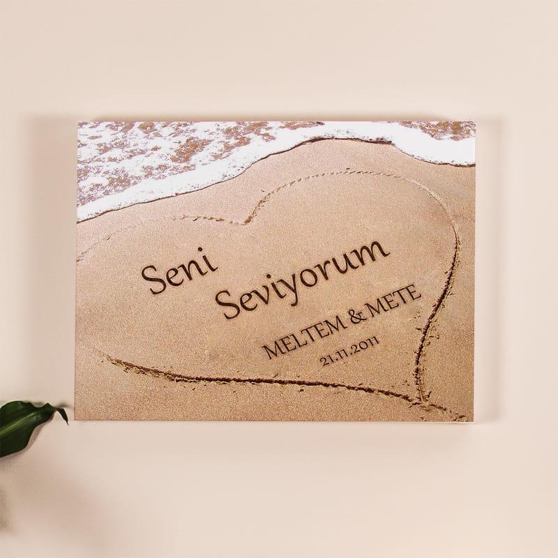 Aşkını Kuma Yazdım Kanvas Tablo 30x40