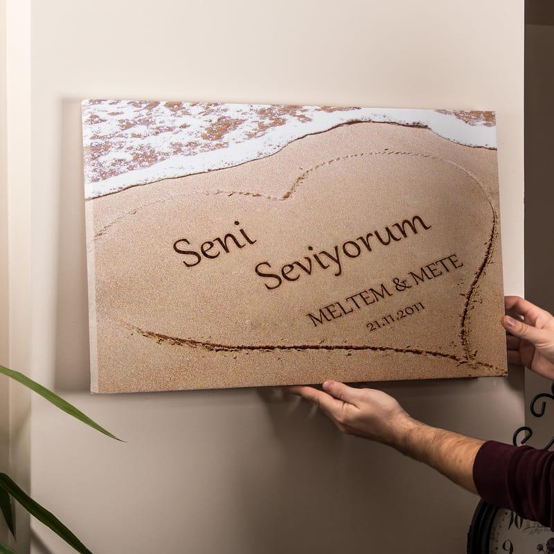Aşkını Kuma Yazdım Kanvas Tablo 40x60
