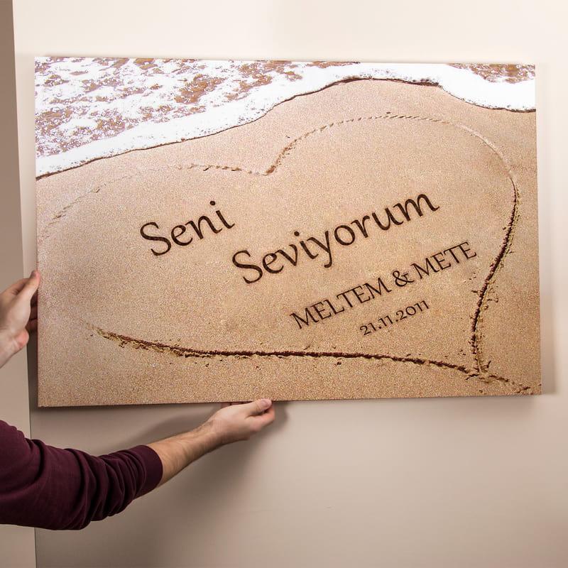 Aşkını Kuma Yazdım Kanvas Tablo 65x95