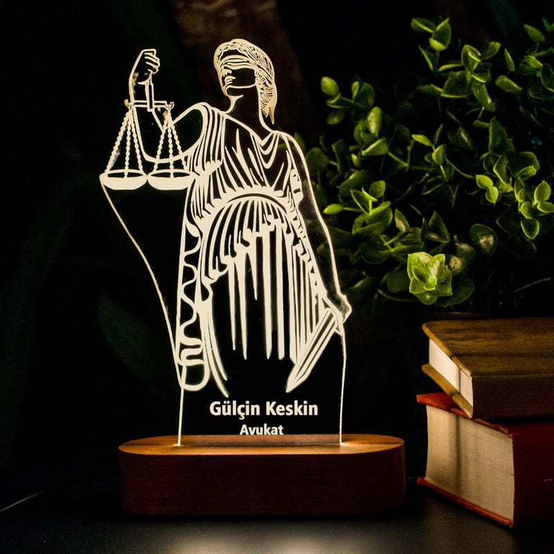 Avukatlara Hediye İsimli Led Lamba