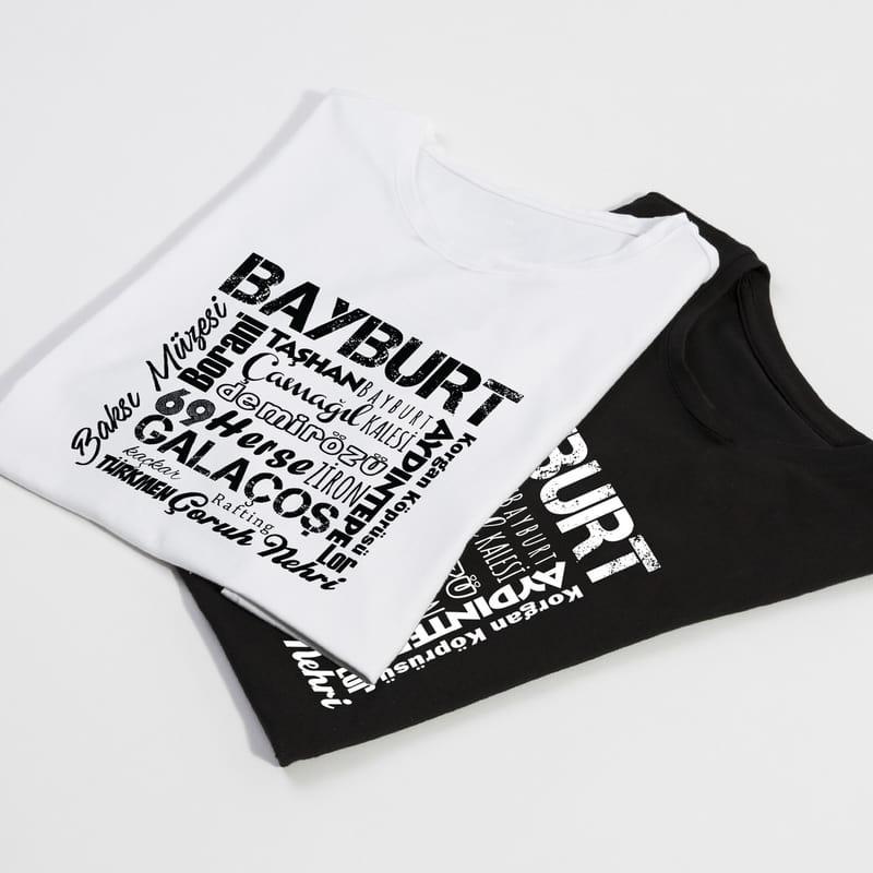 Bayburt İline özel Tasarımlı Baskılı Tişört