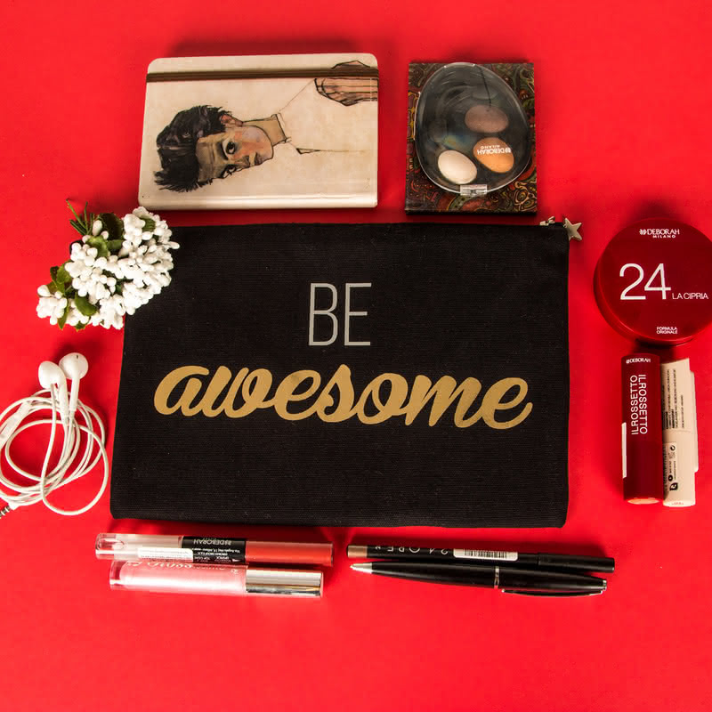 Be Awesome Kanvas Makyaj Çantası
