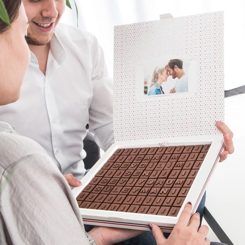 Canım Sevgilim İsim Yazılı Mesajlı Harf Çikolata
