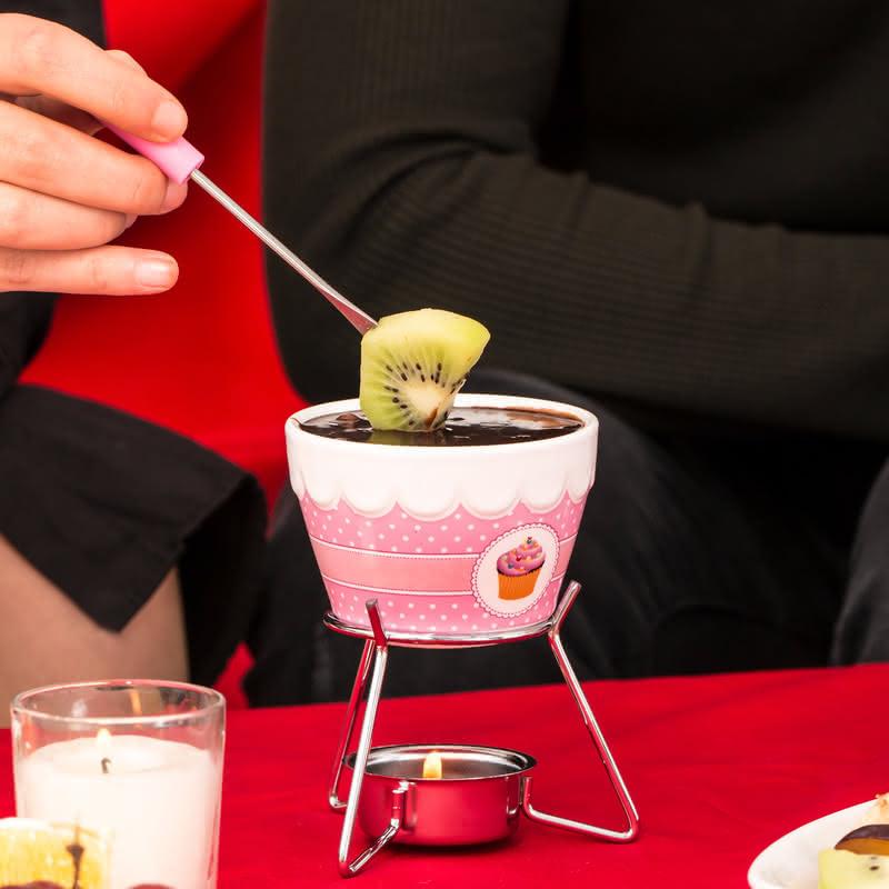 Çiftlere Özel Cupcake 2li Fondü Seti