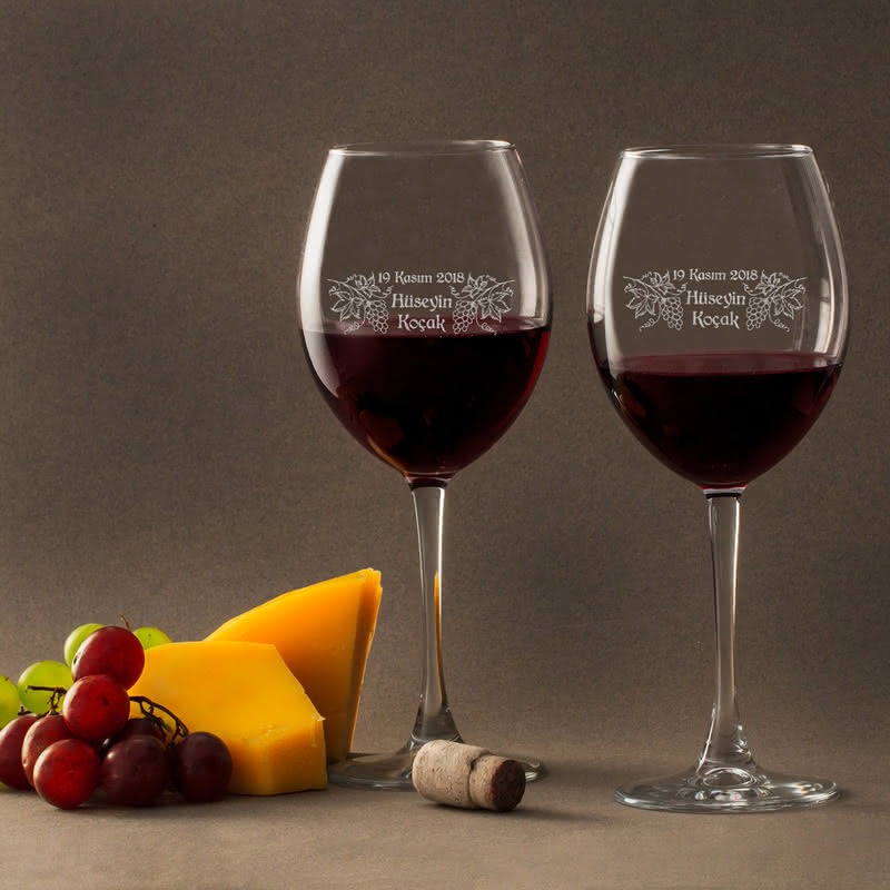 Sevgililere Romantik Hediye Şarap Kadehi