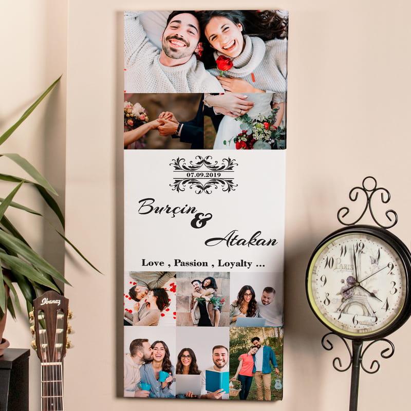 Düğün Resimlerinizle Kanvas Tablo
