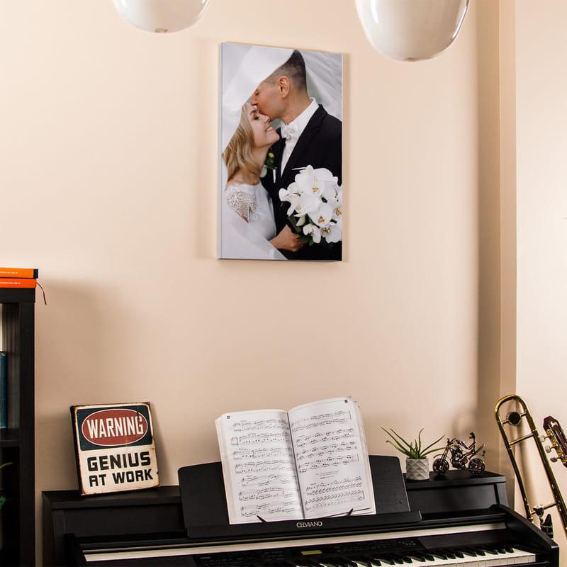 Evli Çiftlere Resimli Canvas Tablo 40x60