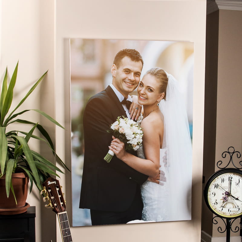 Evli Çiftlere Resimli Canvas Tablo 65x95