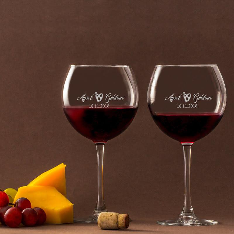 Evlilik Yıl Dönümü Hediyesi Piedmont Şarap Kadeh Seti