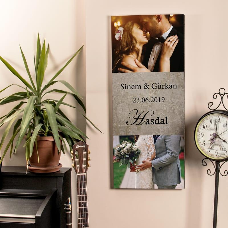 Evlilik Yıldönümü Hediyesi Canvas Tablo