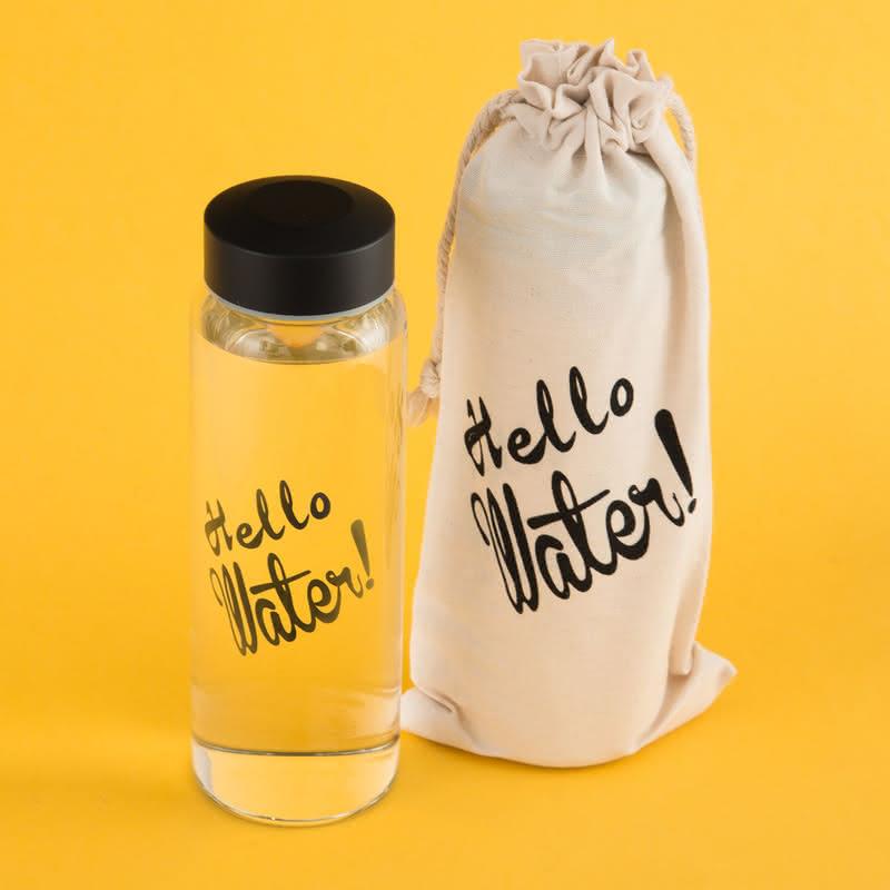 Hello Water! Su Sağlıktır Cam Şişe
