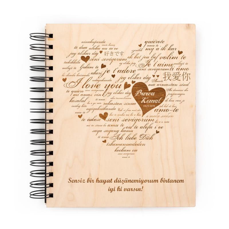 Her Dilde Seni Seviyorum Desenli Albüm