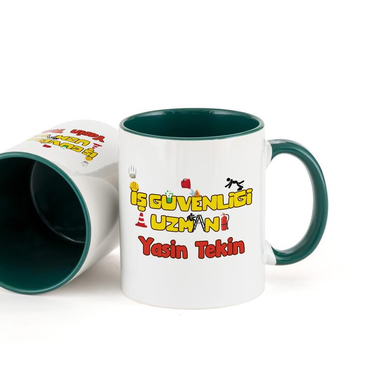 İş Güvenliği Uzmanlarına Hediye Renkli Kahve Kupası