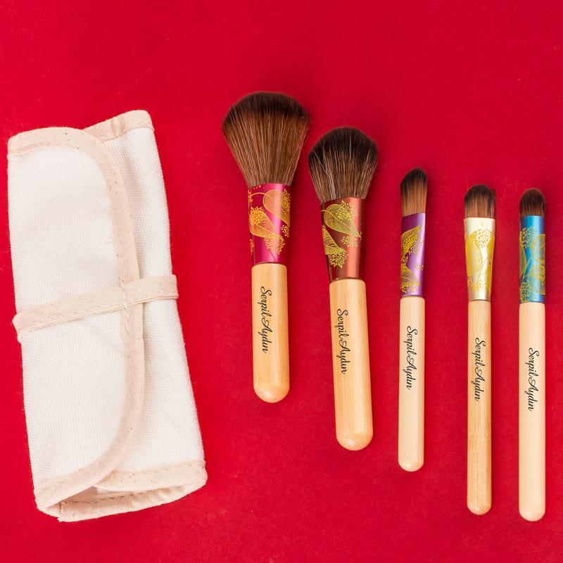 İsme Özel Hediye Makyaj Fırça Seti