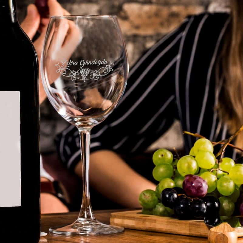 İsme Özel Toscana Şarap Kadeh Seti