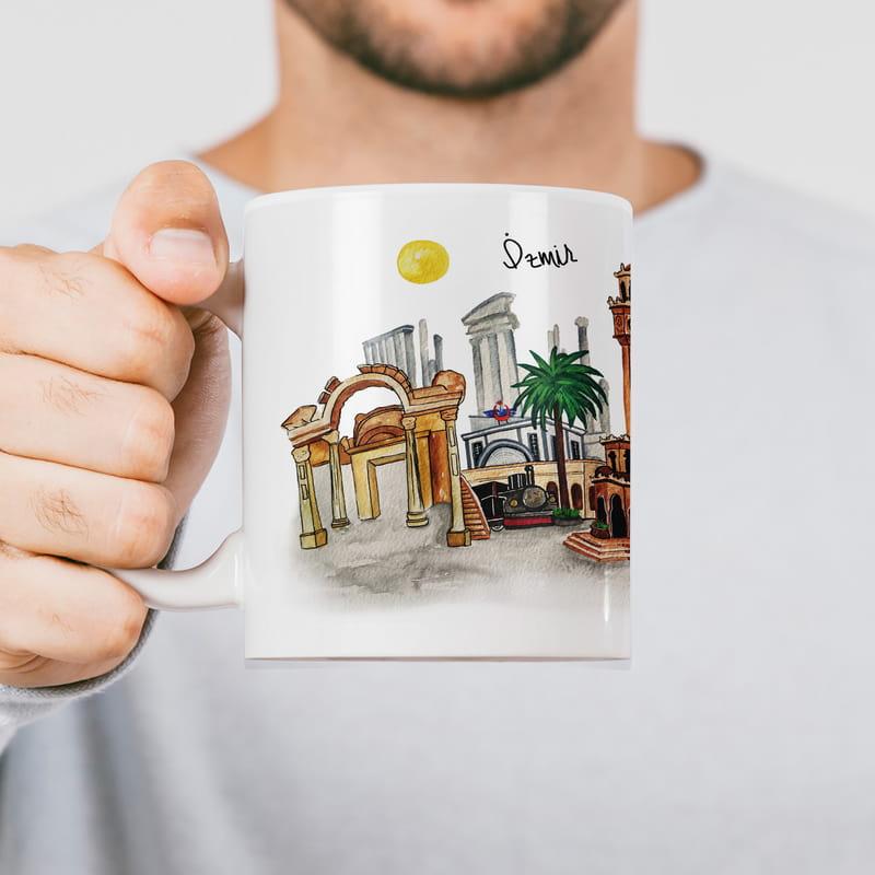 İzmir Şehri Tasarımlı Hediyelik Kupa Bardak