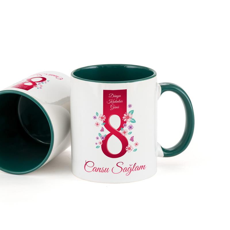Kadınlar Günü Hediyesi Renkli Kahve Kupası