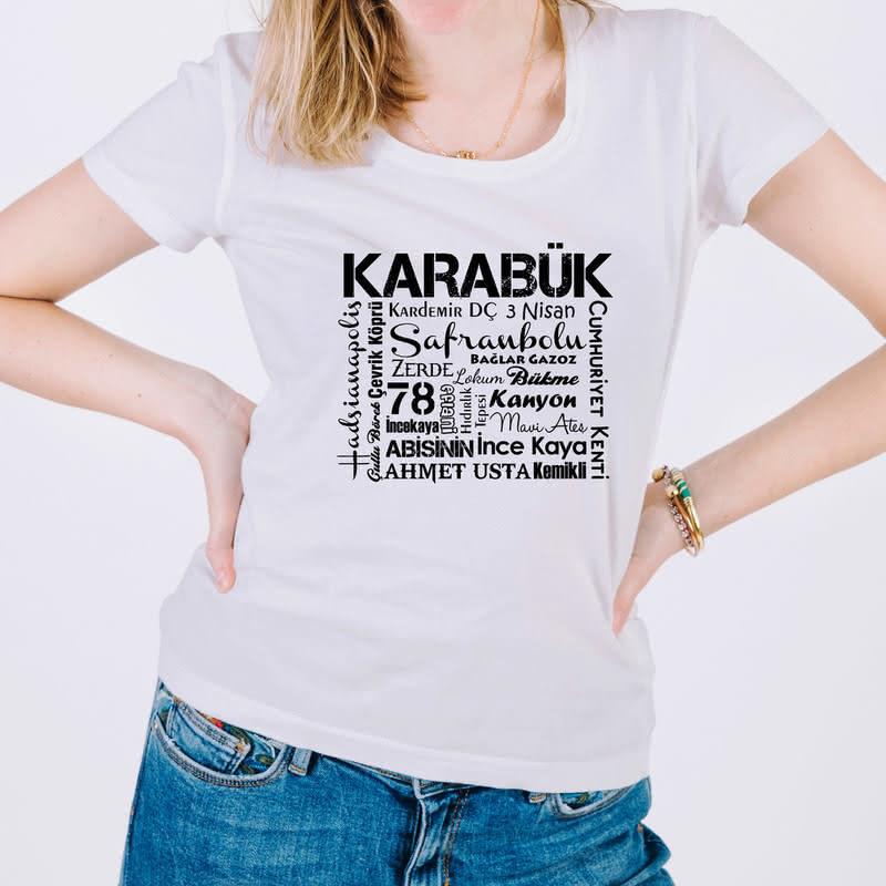 Karabük Şehri Tasarımlı Baskılı Tişört