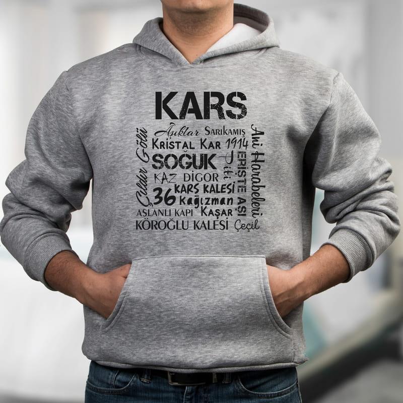 Karslılara Özel Hazırlanan Kapşonlu Sweatshirt