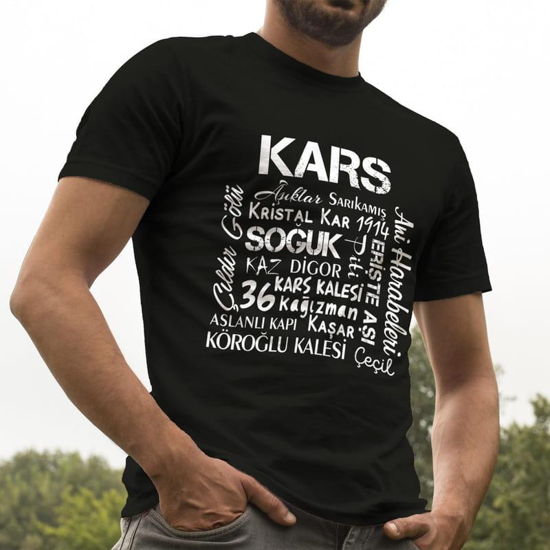 Karslılara Özel Tasarımlı Baskılı Tişört