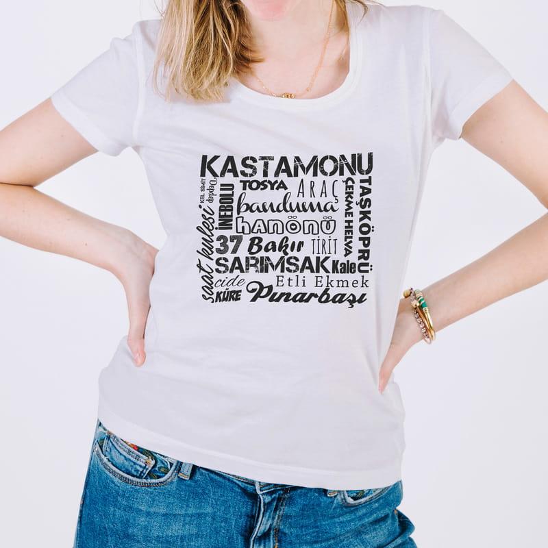 Kastamonu İline özel Tasarımlı Baskılı Tişört