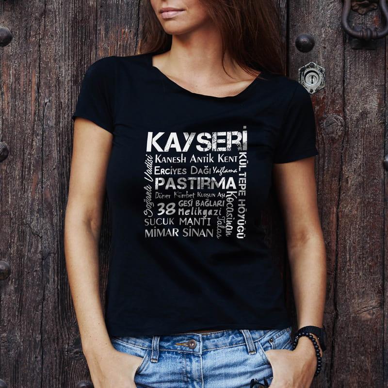 Kayseri İline Özel Tasarımlı Baskılı Tişört