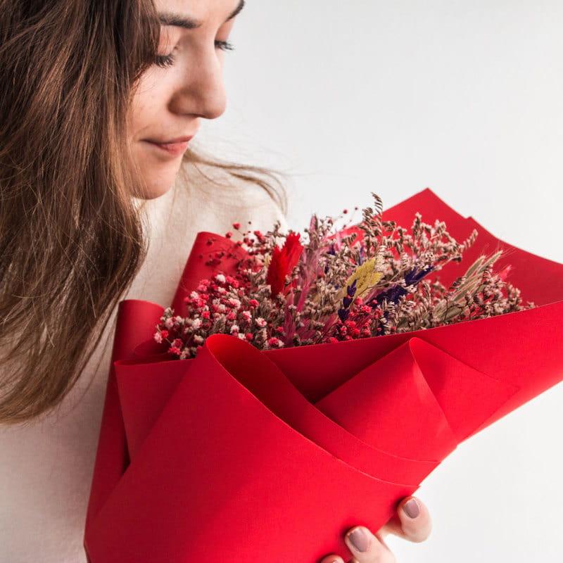 Kırmızının Güzelliği Solmayan Buket Çiçek
