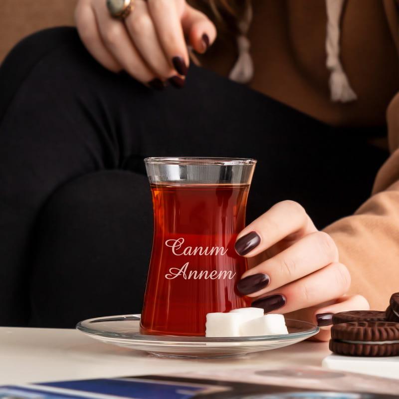 Kişiye Özel Çay Bardağı Seti
