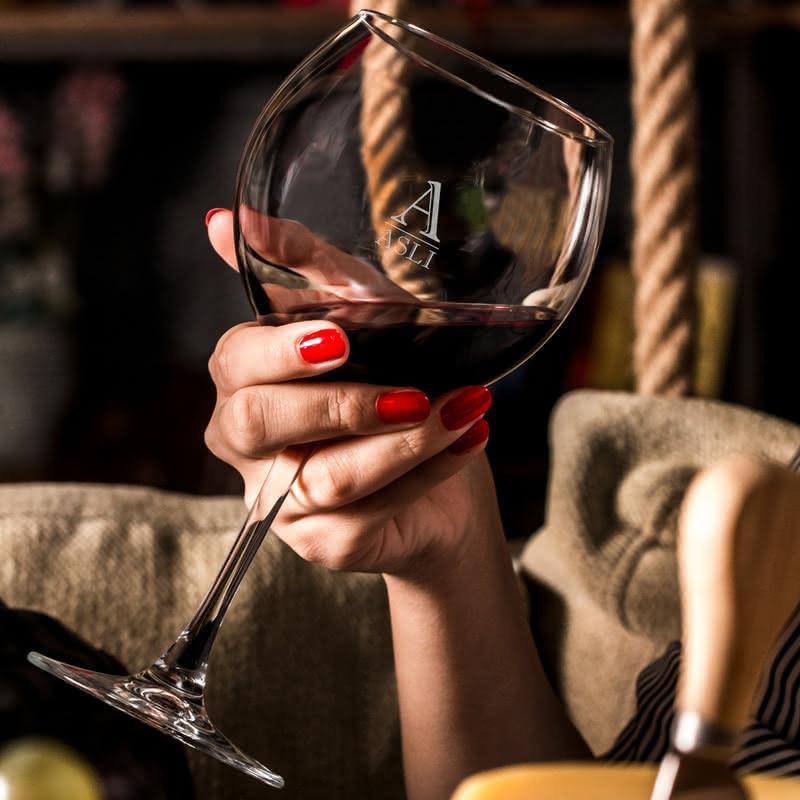 Kişiye Özel Piedmont Şarap Kadeh Seti