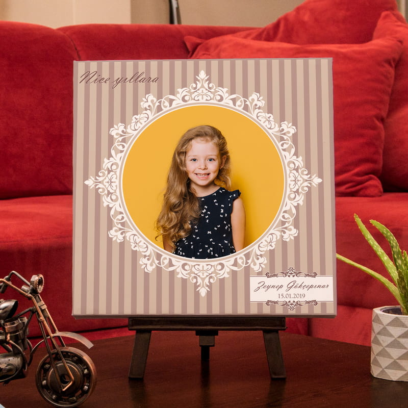 Kızınıza Özel Canvas Tablo