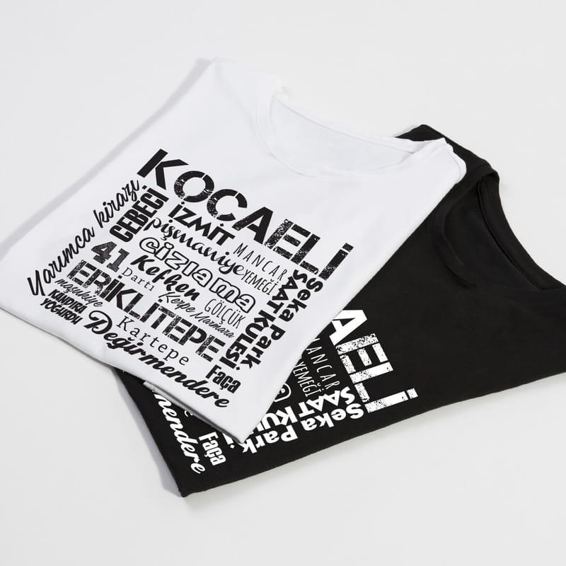 Kocaeli İline Özel Memleket Tasarımlı Baskılı Tişört