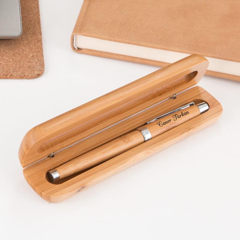 Makina Mühendislerine Hediye Bambu Kutulu Kalem Seti