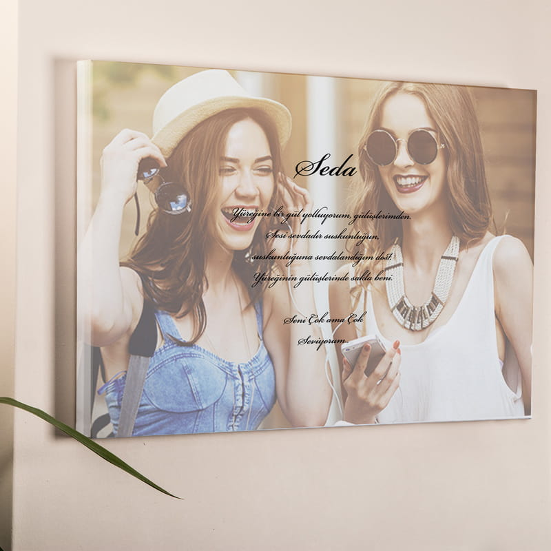 Mesajlı Kanvas Tablo 40x60