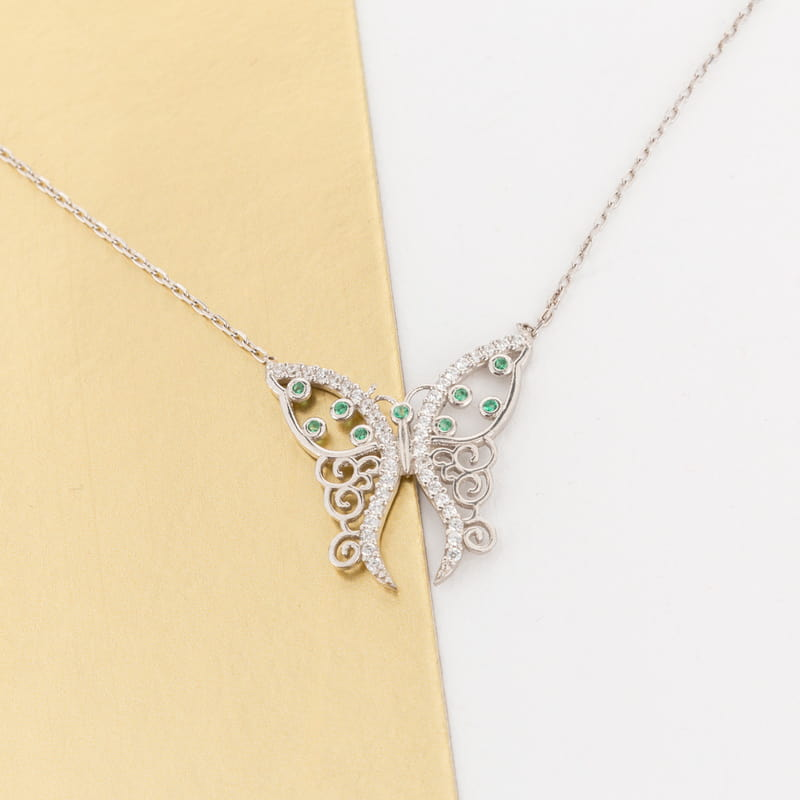 Narin Kelebek Gümüş Kolye