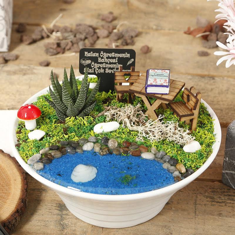 Öğretmenlere Özel Canlı Minyatür Bahçe