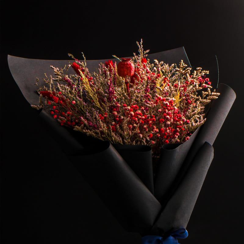 Ölümsüz Aşkın Simgesi Solmayan Buket Çiçek