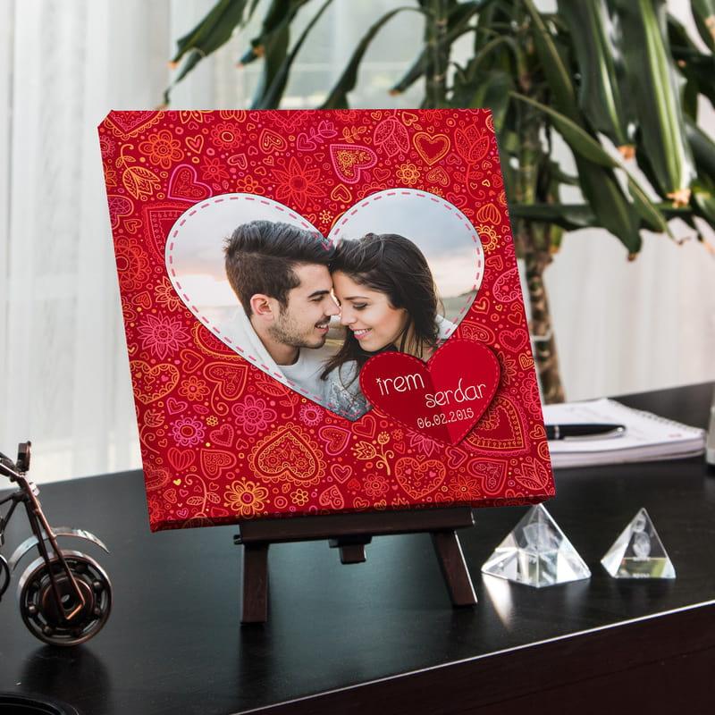Romantik Çiftlere Canvas Tablo
