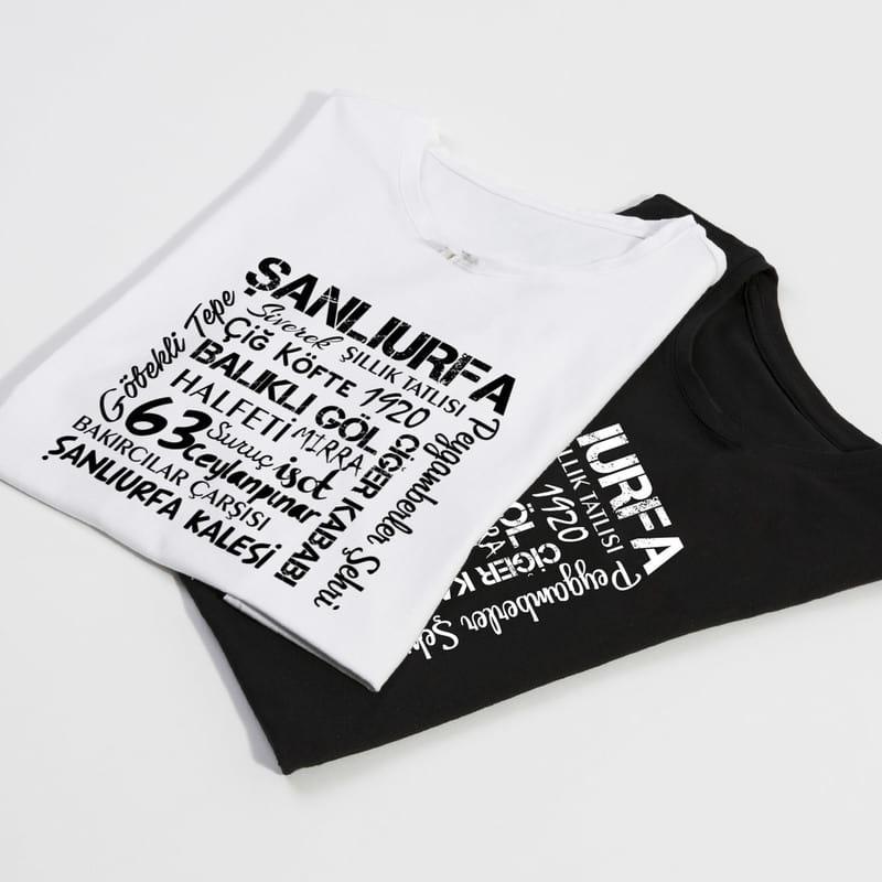 Şanlıurfa İli Tasarımlı Baskılı Tişört
