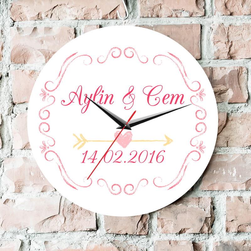 Sevgililer Günü Hediyesi Duvar Saati