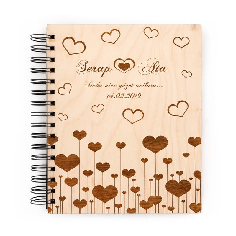 Sevgiliye Hediye Albüm Kalp Desenli