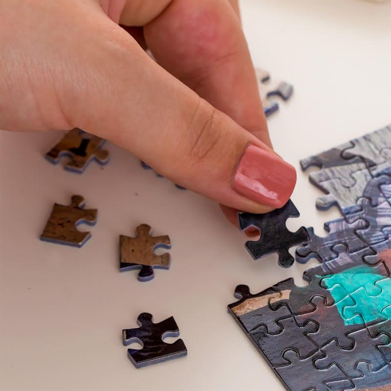 Sevgiliye Hediye Çerçeveli Kapsül Puzzle Seti