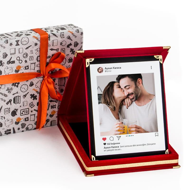 Sevgiliye Sosyal Medya Tasarımlı Hediyelik Plaket