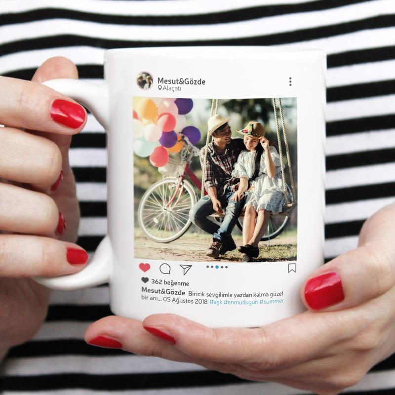 Sosyal Medya Tasarımlı Kişiye Özel Kupa