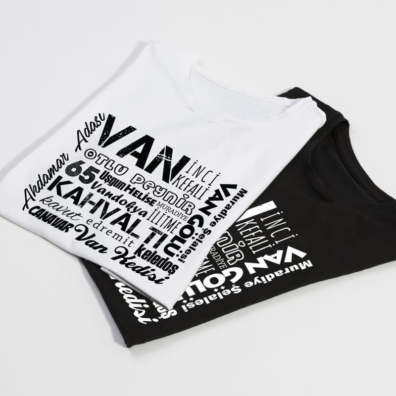 Vanlılara Hediye Memleket Tasarımlı Baskılı Tişört